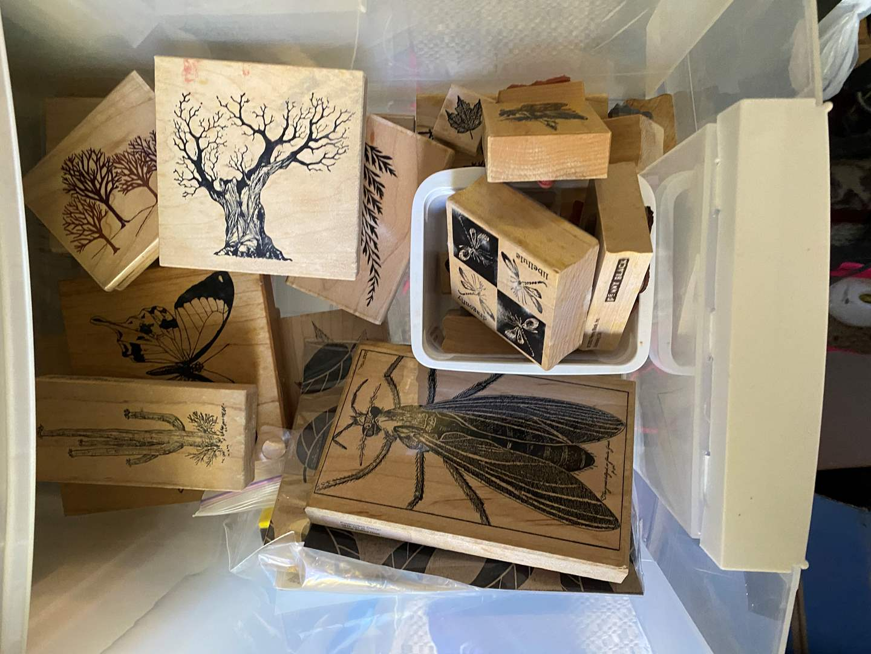 Lot # 151 - Totes full of supplies for various art mediums (main image)