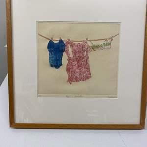 Lot # 154 - Etching Signed & Framed Artist Proof
