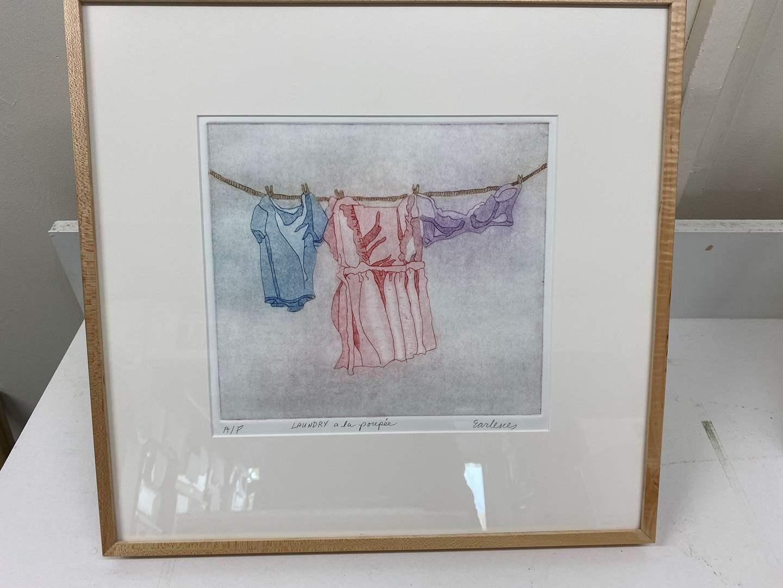 Lot # 155 - Etching Signed & Framed Artist Proof (main image)