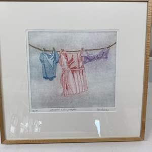 Lot # 155 - Etching Signed & Framed Artist Proof