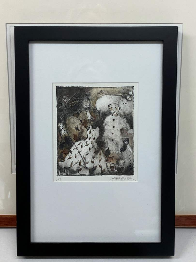 Lot # 156 - Etching Signed & Framed Artist Proof (main image)