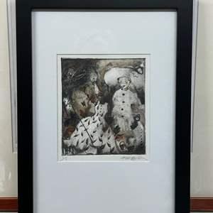 Lot # 156 - Etching Signed & Framed Artist Proof
