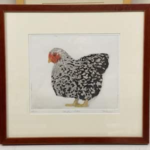 Lot # 157 - Etching Signed & Framed Artist Proof