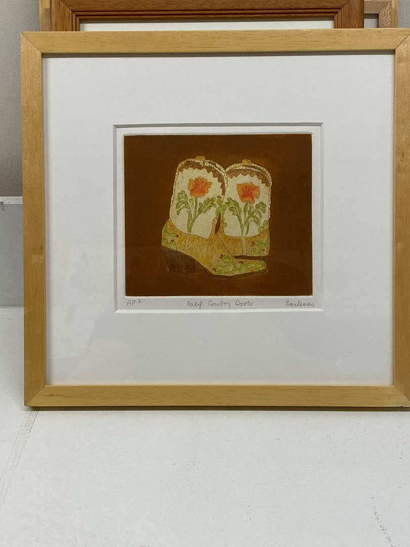 Lot # 158 - Etching Signed & Framed Artist Proof (main image)