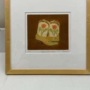 Lot # 158 - Etching Signed & Framed Artist Proof