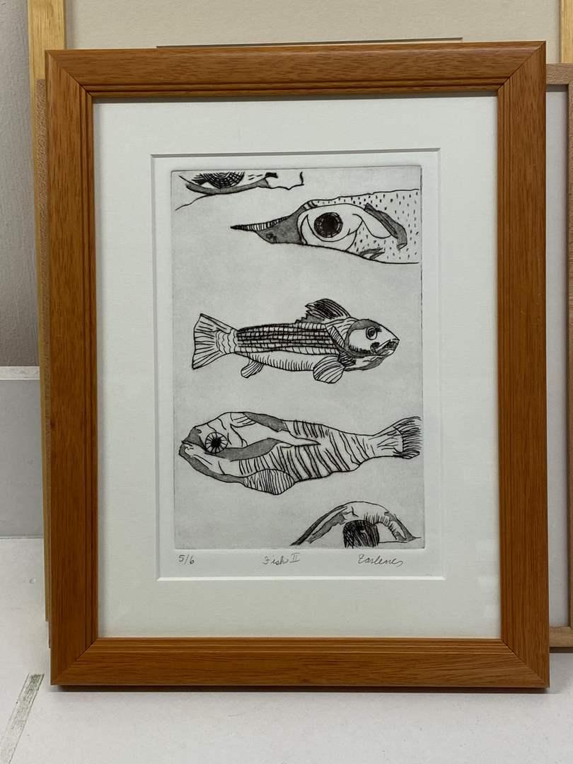 Lot # 159 - Etching Signed & Framed Artist Proof (main image)