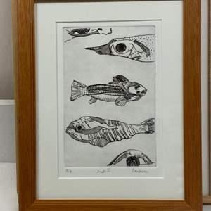 Lot # 159 - Etching Signed & Framed Artist Proof