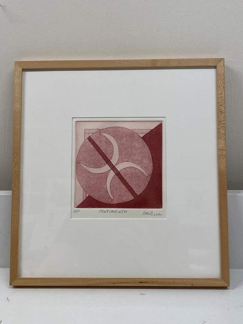 Lot # 160 - Etching Signed & Framed Artist Proof (main image)