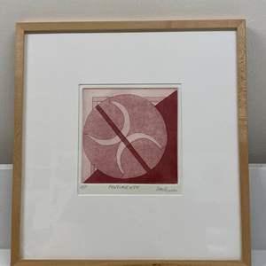 Lot # 160 - Etching Signed & Framed Artist Proof