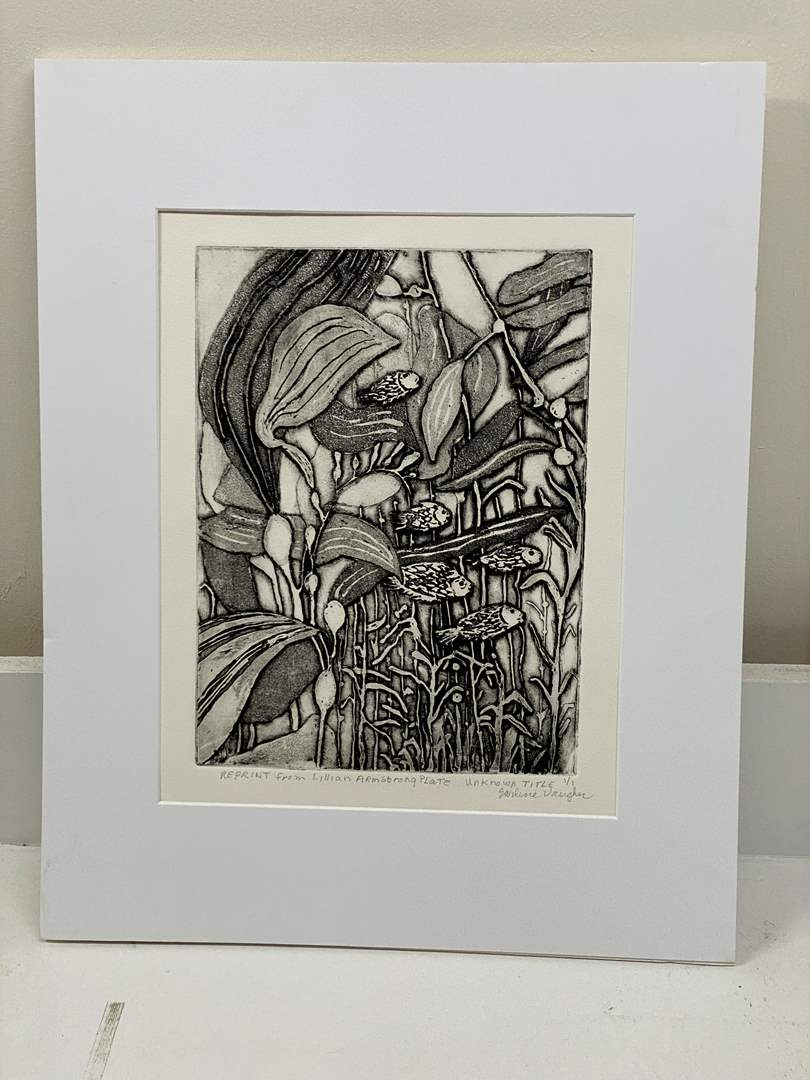Lot # 162 - Etching Signed & Framed Artist Proof (main image)