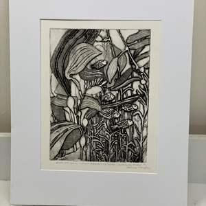 Lot # 162 - Etching Signed & Framed Artist Proof