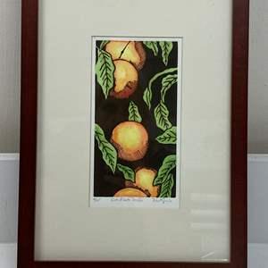 Lot # 164 - Etching Signed & Framed Artist Proof