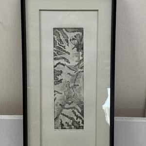 Lot # 165 - Etching Signed & Framed Artist Proof