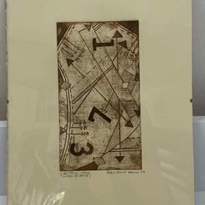 Lot # 166 - Etching Signed & Framed Artist Proof