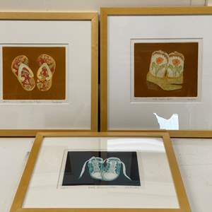 Lot # 168 - Etchings Signed & Framed Artist Proofs