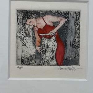 Lot # 170 - Etching Signed & Framed Artist Proof