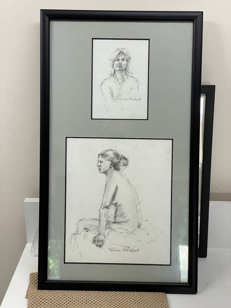 Lot # 175 - Framed Original Pencil  (main image)