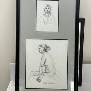 Lot # 175 - Framed Original Pencil