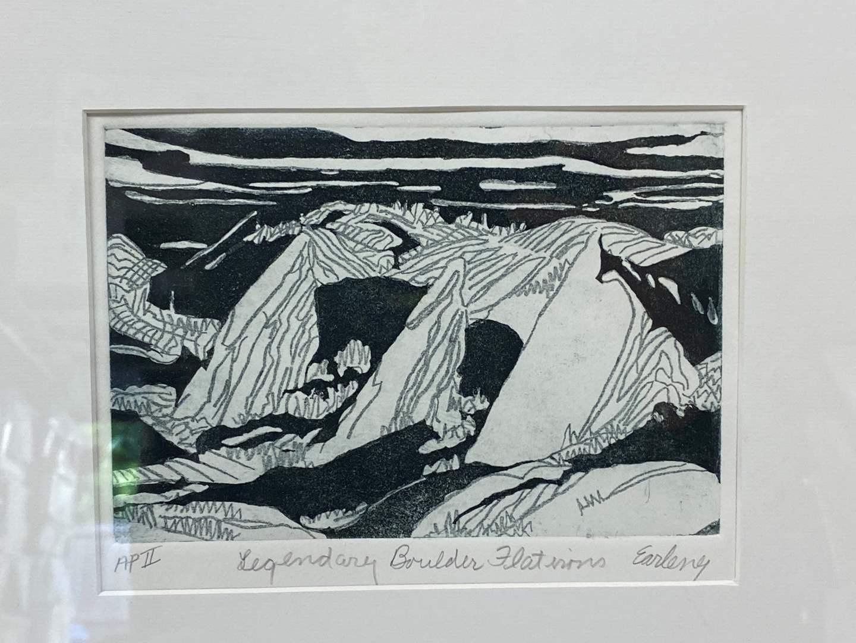 Lot # 176 - Etching Signed & Framed Artist Proof (main image)