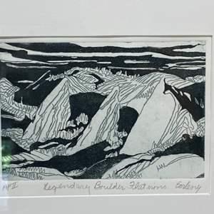 Lot # 176 - Etching Signed & Framed Artist Proof