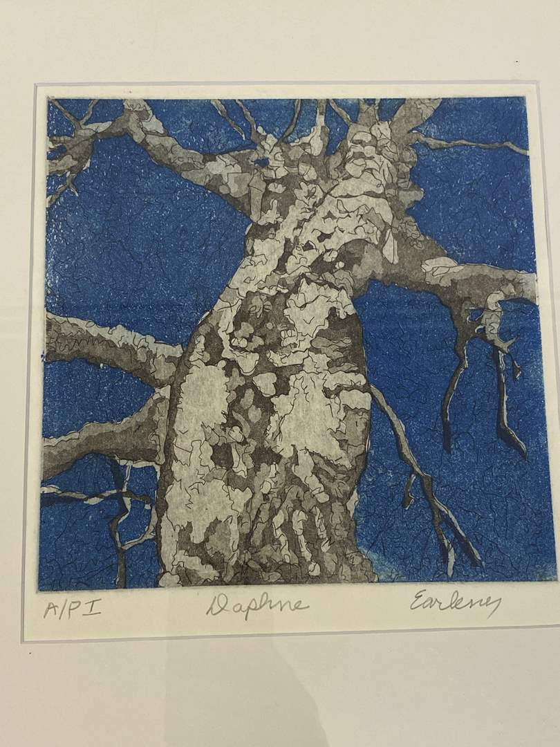 Lot # 177 - Etching Signed & Framed Artist Proof (main image)