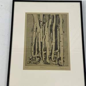 Lot # 178 - Etching Signed & Framed Artist Proof