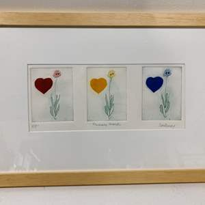 Lot # 179 - Etching Signed & Framed Artist Proof