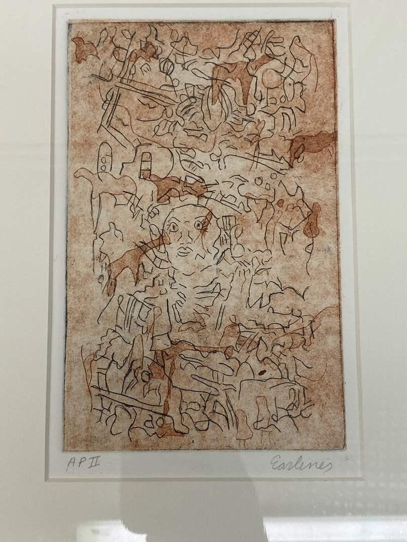 Lot # 180 - Etching Signed & Framed Artist Proof (main image)