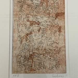 Lot # 180 - Etching Signed & Framed Artist Proof