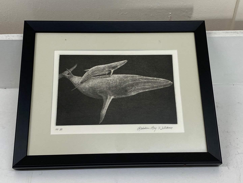 Lot # 184 - Etching Signed & Framed Artist Proof (main image)