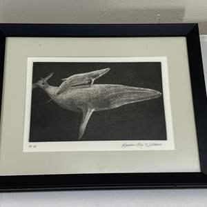 Lot # 184 - Etching Signed & Framed Artist Proof