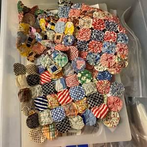 Lot # 192 - 3 Large Totes Full of Fabrics, Quilting Materials