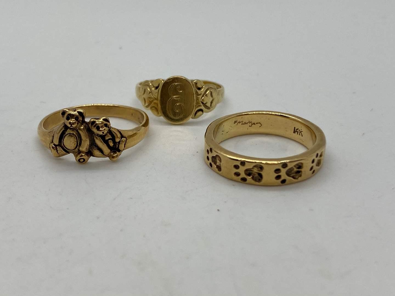 Lot # 194 - 14k Gold Rings (13.0g) (main image)