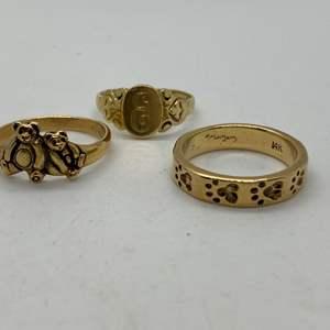 Lot # 194 - 14k Gold Rings (13.0g)
