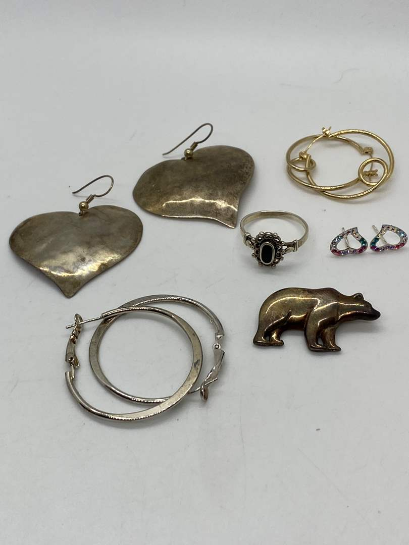 Lot # 199 - Hallmarked Silver Jewelry (29.0g) (main image)
