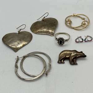 Lot # 199 - Hallmarked Silver Jewelry (29.0g)