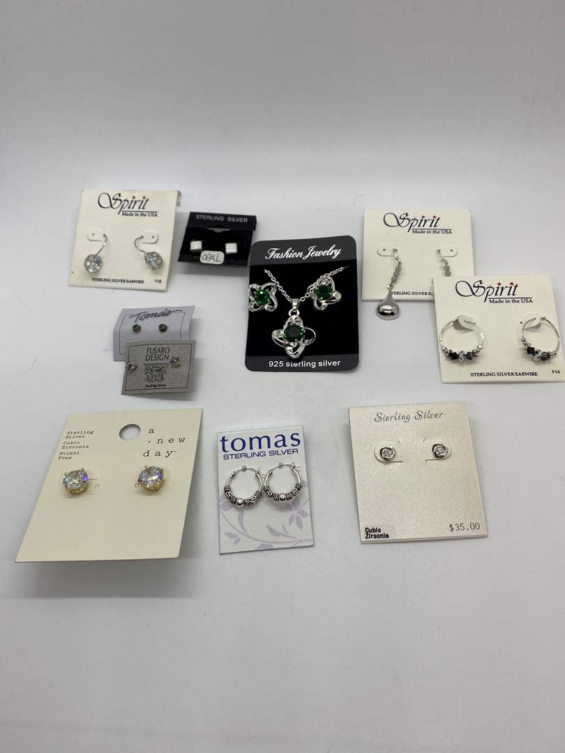 Lot # 205 - NEW with tags Sterling jewelry (main image)
