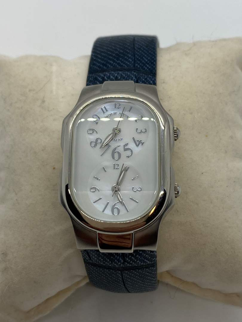 Lot # 209 - Philip Stein Teslar Dual Zone Watch With Extra Bands & Original Box (main image)