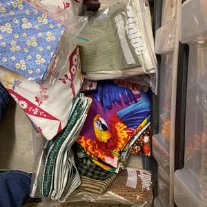 Lot # 241 - 3-drawer cubby full of fabrics
