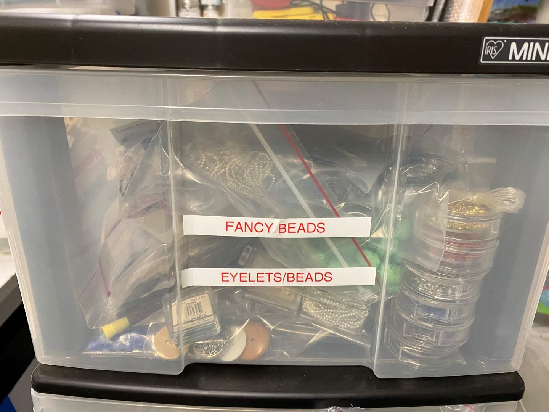 Lot # 247 - Large drawer full of beads (main image)