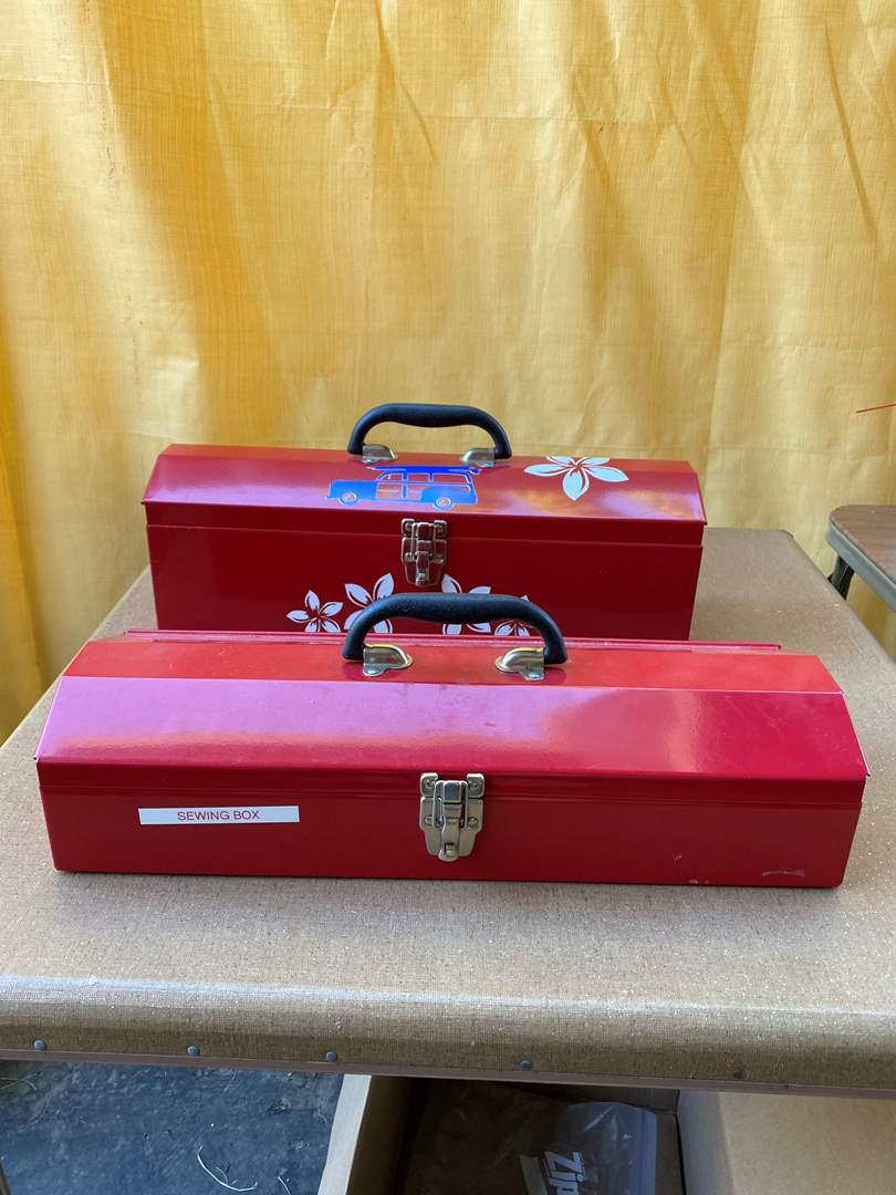 Lot # 255 - Two Tool Boxes with Supplies (main image)