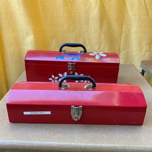 Lot # 255 - Two Tool Boxes with Supplies