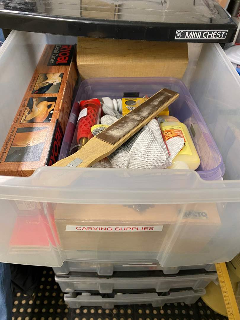 Lot # 257 - Tub Full of Art Supplies  (main image)