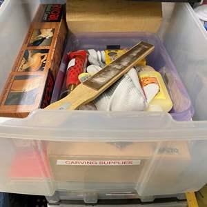 Lot # 257 - Tub Full of Art Supplies