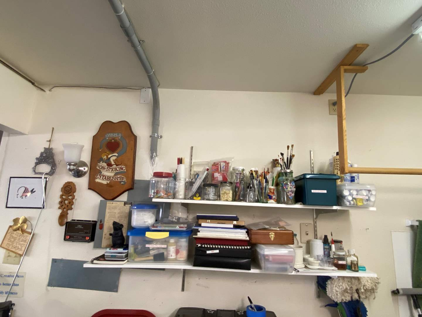 Lot # 270 - Contents of Both Shelves(Does Not Include the Non Smoking Establishment Sign) (main image)