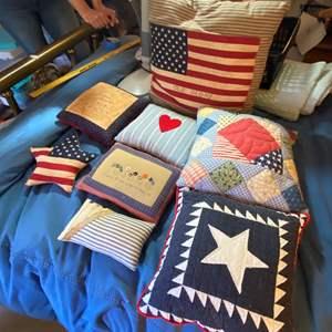 Lot # 293  - Hand made patriotic pillows
