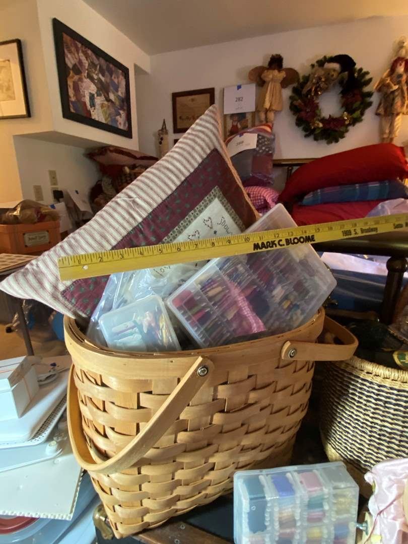 Lot # 297 - Baskets full of Needlepoint Supplies (main image)