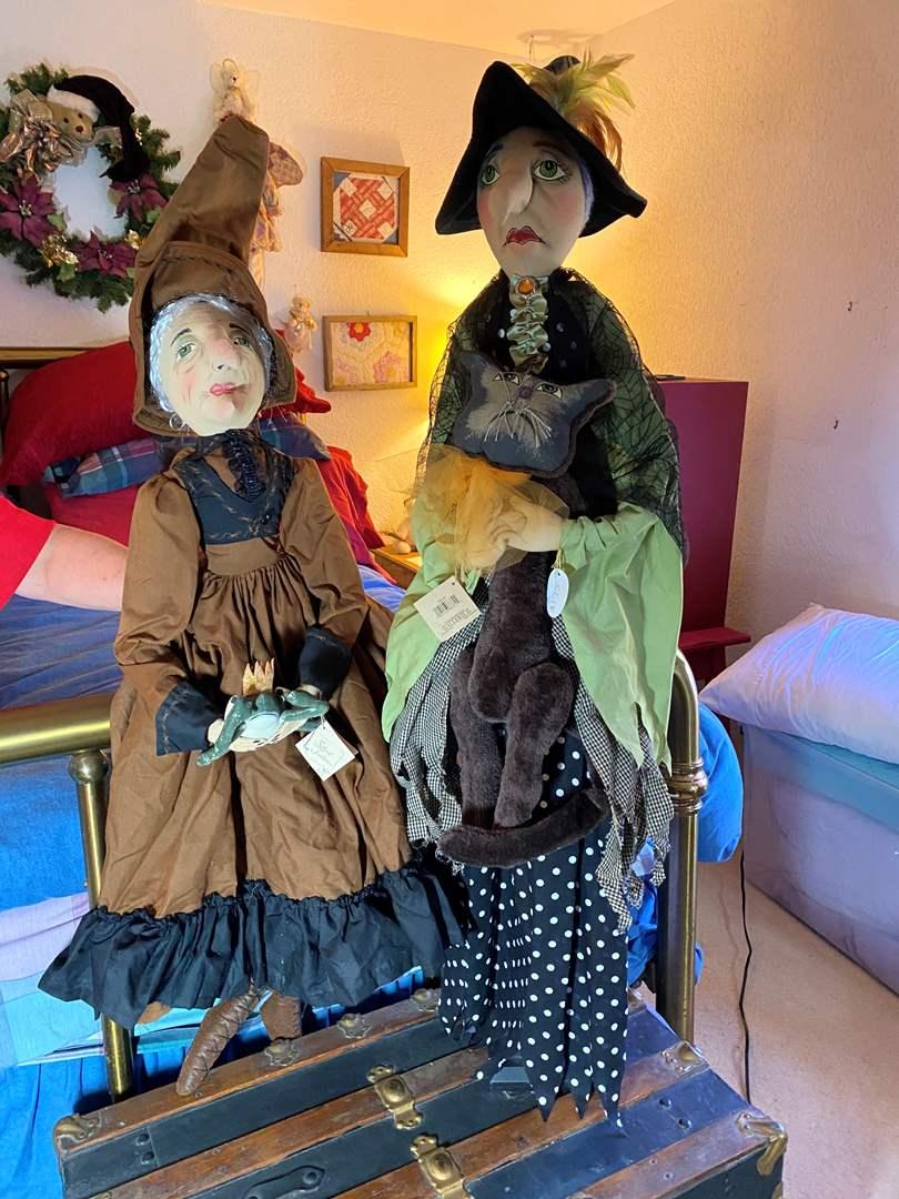 Lot # 300 - Oversized 2 Witch Dolls  (main image)