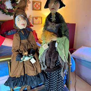 Lot # 300 - Oversized 2 Witch Dolls