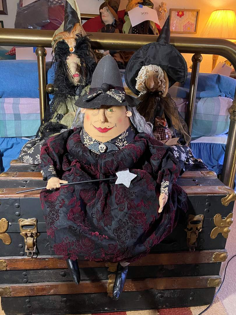 Lot # 301 - 3 Well Made Witch Dolls (main image)
